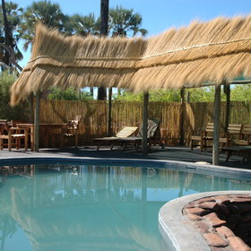 There are two pools, one for the campsite and one for the safari tents and lodge guests.