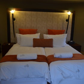 The chalets consist of a double or twin bed...