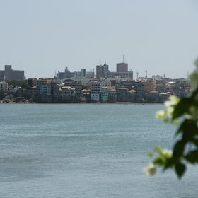 ...facing the old city of Mombasa across Tudor Creek.