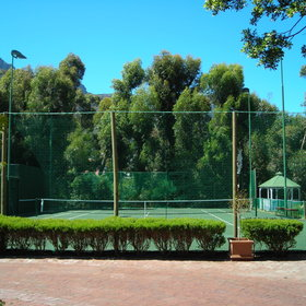 There's a lot to do whilst staying here, like playing tennis...
