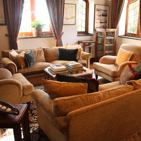 The public rooms of the Manor House have a comfy atmosphere...