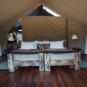 The beds are luxurious and also encompass an authentic African feel...