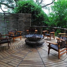 …at the firepit, that offers great views of the landscape like most places at Little Mombo...
