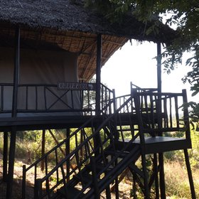 Head up the stairs to your accommodation on stilts, named after famous explorers...