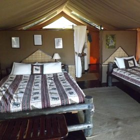...whilst always being pleasantly spacious for safari tents.