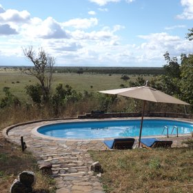 ...or the lovely pool, complete with sun loungers and great views from the kopje!
