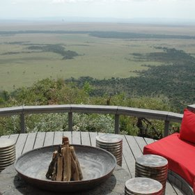 Angama Mara is built high up on the escarpment and offers incredible views over the Maasai Mara.