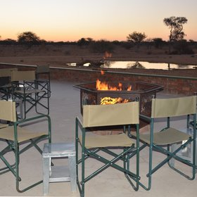 ...and you can also sit by the fire outside for a drink before dinner.