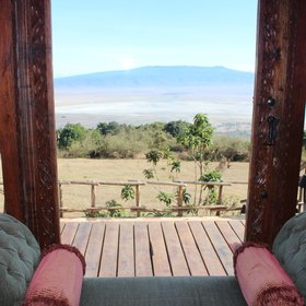 ...and due to their location, have breathtaking views of the Ngorongoro Crater.