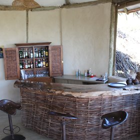 There is a small bar area to enjoy drinks on the verandas...
