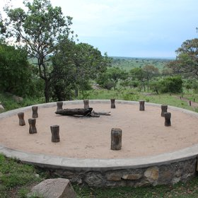 ...and a fantastic fire pit - a great spot for pre-dinner drinks.