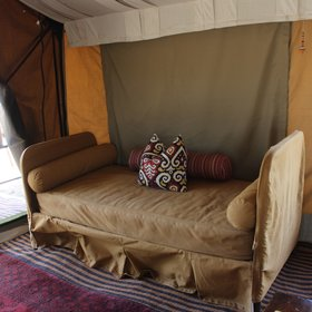 There is also a large day bed to relax in between activities.