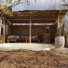 Twiga Villa also has a comfortable shaded seating area...