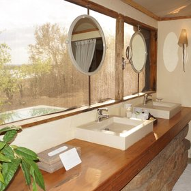 ... and the bathroom at Twiga Villa offers great views through large windows.