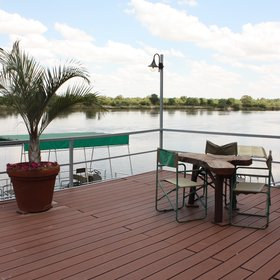 on the banks of the Kavango River.