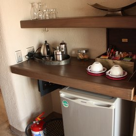 tea and coffee making facilities as well as a stocked minibar...