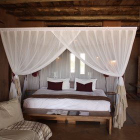 Upstairs in the main building is the Sultan Suite - ideal for honeymooners...