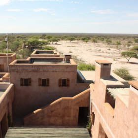 The views from the top of the tower offer uninterrupted views towards Etosha...