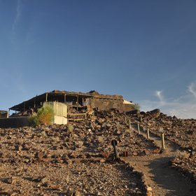 The main building at Doro Nawas is striking in appearance and perched on top of a small hill...