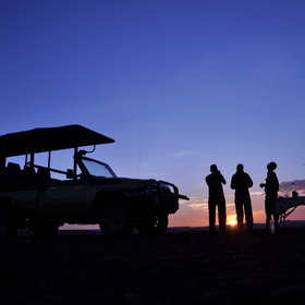 Days are best finished enjoying a sundowner overlooking the vast concession.