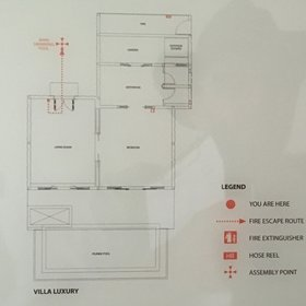 This plan shows the layout of the luxury villas.