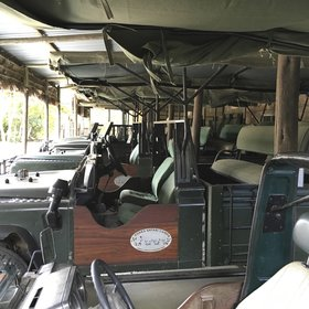 Rufiji River Camp's fleet of game drive vehicles ranges from old warhorses…
