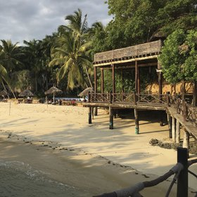 Mbweni Ruins Hotel's best feature is the beach, jetty and deck.