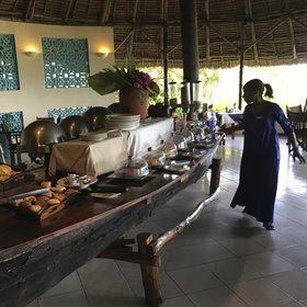 The Rainforest Restaurant is a pleasant place for a meal, serving buffet breakfasts…