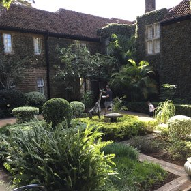 The Karen Blixen suite is to the rear of the main manor, off the courtyard, behind Lynn's Room.