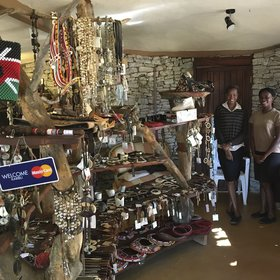 And if you want some souvenirs, the little shop is well stocked with local crafts and items from other parts of Kenya.
