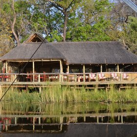 Xakanaxa Camp has a beautiful setting on the banks of the Khwai River...