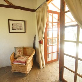 At the opposite end of the veranda from the lounge is the twin bedroom…