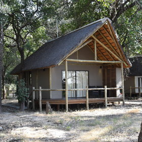 Each of the Chalets at Shakawe River Lodge has a picturesque views of the river.