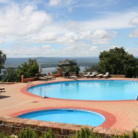 ...where you can relax with wonderful views over Lake Ihema.