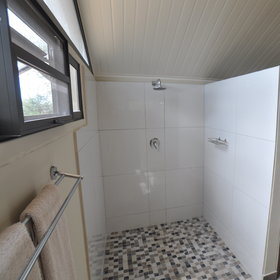 ... and walk-in shower.