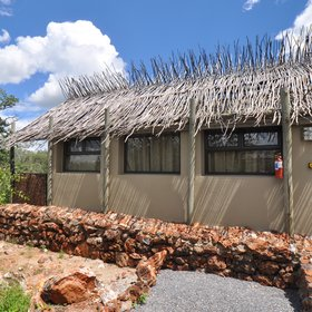 The rooms are dotted in amongst the mopane bush around camp.