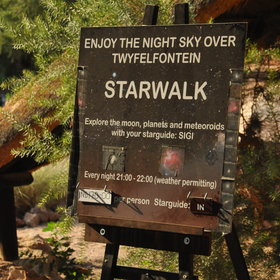 Whilst at Twyfelfontein you can enjoy a variety of activities including star gazing...