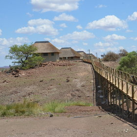 ...tented chalets that are further from the lodge and overlook the reed beds of the Uniab River.