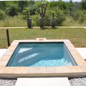 Each villa has a private plunge pool with sunloungers...
