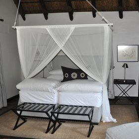 Each chalet has twin or double beds…