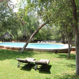 There is also a large pool surrounded by sunloungers.