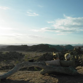 ...the sundowner spot, which is one of Namibia's best...