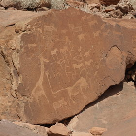 ...and highly recommended due to the extraordinary bushman rock engravings.
