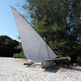 Guests can choose to go sailing in a traditional ngalawa fishing boat...