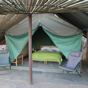 ...the tents are comfortably furnished...
