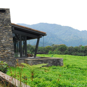 Nyungwe House is set in the middle of a tea plantation, overlooking Nyungwe Forest.