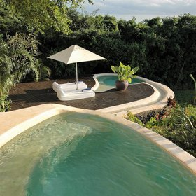...as well as two plunge pools and plenty of private space.