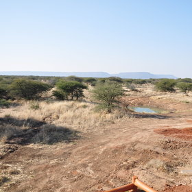 It also has a view of  the lodge's newly created waterhole.