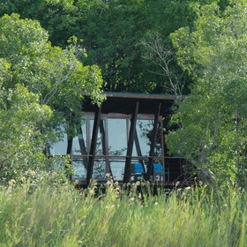 River Dance Lodge is nestled in riverine forest on the banks of the Kavango River.