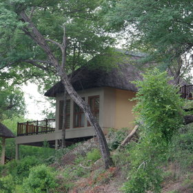 Divava Okavango Lodge & Spa is located on the banks of the Kavango River.